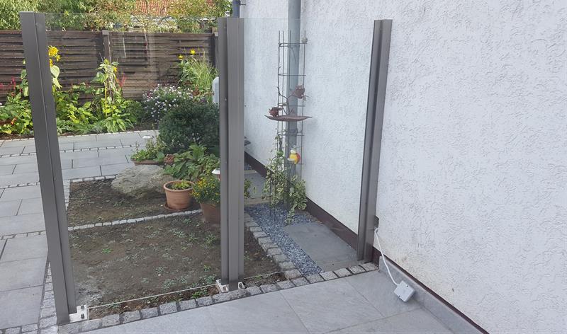 Windschutz aus Glas und Edelstahl - Fun Metall - Leverkusen