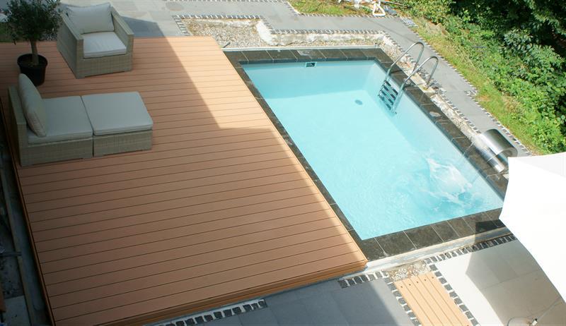 poolabdeckung als terrasse f r das garten schwimmbecken fun metall leverkusen. Black Bedroom Furniture Sets. Home Design Ideas