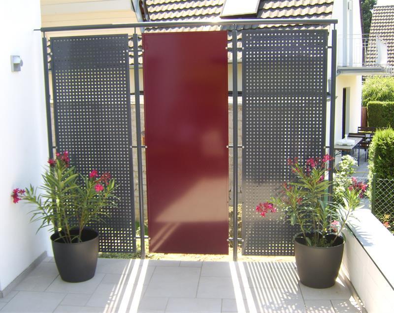 Metallbau Gelaender Sichtschutz Windschutz Sonderkonstruktionen